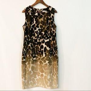 Calvin Klein Cheetah sleeveless dress Size 14